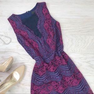 Gremlin / Roselyn Lace V-Mesh Neckline Dress NWT M